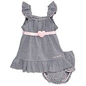 GUESS Baby Set, Baby Girls Newborn 2-Piece Flutter-Sleeved Dress and Bloomers