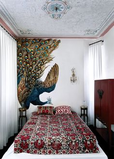 Istanbul peacock.