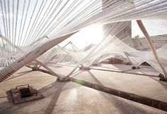 "Installation at Marrakech Biennale ""Higher Atlas"" // Barkow Leibinger | Afflante.com"