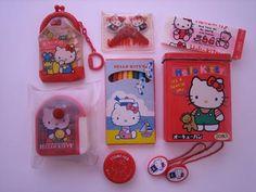 Hello Kitty items, via Flickr.  yo tenia las liguitas