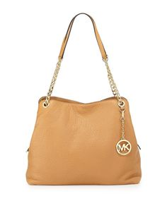 820131a6a5be NEW MICHAEL KORS JET SET LARGE CHAIN PEANUT LEATHER TOTE SHOULDER BAG   MichaelKors  ToteShoulder