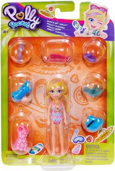 Polly Pocket Surf's Up Polly Baby Dolls For Kids, Kids Toys For Boys, Baby Play House, Polly Pocket World, Poly Pocket, Barbie Birthday Cake, Minnie Mouse Toys, Barbie Doll Set, Sssniperwolf
