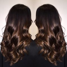 Glossy smooth brown hair (goals!)