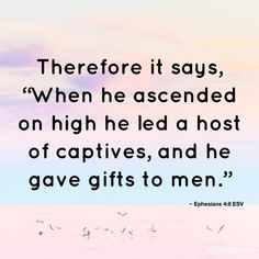 When Jesus arose he set the Captives of SHEOL free (like Moses did) and granted them Heaven/The Promised land.