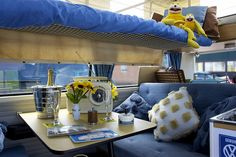 VW Campervan interior by petrova fossil :), via Flickr