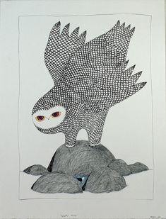 by Ningeokuluk Teevee   2007/08   coloured pencil/ink on paper