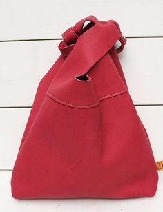 Bag Van Veer Shopper Red Leather