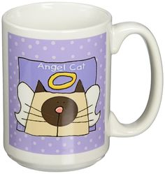 Angel Siamese Cat Cute Cartoon cat Loss Memorial Ceramic Mug, -- Check this awesome product by going to the link at the image. (This is an affiliate link and I receive a commission for the sales) Image Cat, Pin Image, Cat Mug, Pet Loss, Siamese Cats, Cute Cartoon, Trust, Cups, Just For You