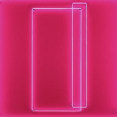Lori Hersberger - Geist No. 15 (XV) (2012)   Installation with Neon (2 Parts)Fluorescent Pink