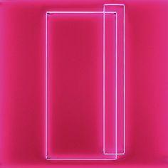 Lori Hersberger - Geist No. 15 (XV) (2012) Installation with Neon (2 Parts)Fluorescent Pink