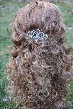 rhinestone hair comb bridal hair accessoriesweding by Amoretto, $45.00