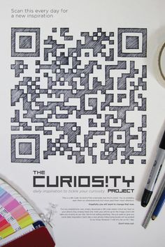 The curiosity project: scan for a new inspiration. QR Codes for the Curious