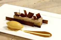 Valrhona Caramelia Mousse, Caramel Apple Jelly, Compressed Apples, Chocolate Sponge Cake, Caramel Ice Cream by Pastry Chef Antonio Bachour, via Flickr