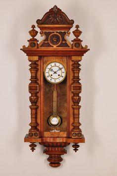 Fantastic Antique German Pendulum Wall Clock Approx 1890