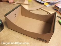 Turn a Cardboard Box into a Jump for Hot Wheels Cars