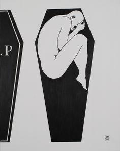 """""""R.I.P"""" Acrílico 73 x 92 cm 160 €"""