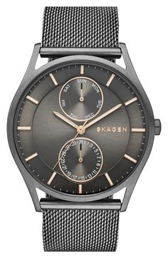 Skagen 'Holst' Multifunction Mesh Strap Watch, 40mm available at #Nordstrom
