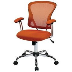 Hearts Attic Orange High-Back Mesh Home Office Student Computer Chair