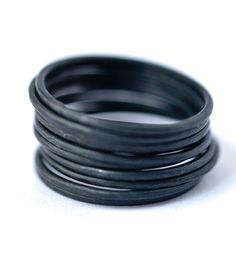 Oxidized Sterling Silver Stacking Rings   Jewelry Rings   LoveGem Studio   Scoutmob Shoppe   Product Detail