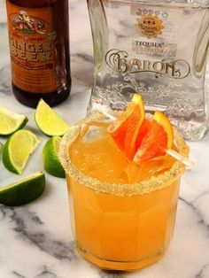 The Elle Yes! Margarita featuring Cara Cara Oranges and Ginger Beer by Barb | Creative Culinary on DrinkWire
