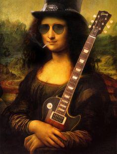 Monalisa for Destruction [Will Knack] (Gioconda / Mona Lisa) Rock And Roll, Pop Rock, Arte Pop, Pop Art, Mona Lisa Parody, Mona Lisa Smile, Tachisme, Photomontage, Hard Rock