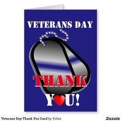 Veterans Day Thank You Card