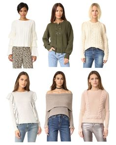 Bye, basic sweaters! The special details on these make dressing for winter a little less blah.