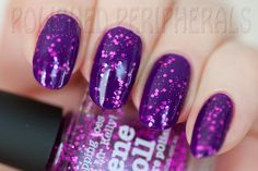 piCture pOlish Gene Doll layered over Violet Femme swatched by Polished Peripherals!