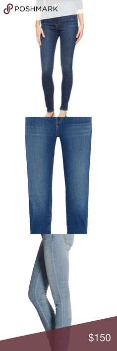 Women's indigo 001 Slim Fit High Rise Jeans Denim x Alexander Wang, Cotton, Elastane. Has a signature black leather belt loop on back side. Actual style may be the slim fit skinny or the Women's Whip Skinny Jeans, size is about 29, or about a 6-8. Some pretty serious stretch. Long! Darker medium blue is the actual color. Can include fabric sample sent with purchase for patching.  EUC with love from a smoke free-pet free home. More pics upon request! Alexander Wang Jeans Skinny