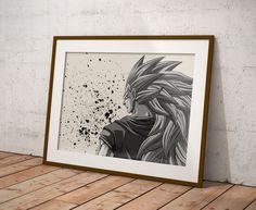 Dragon Ball Z Anime Poster Watercolor Wall Art Otaku Print Anime Poster Gift R2