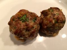 Oven baked lamb and pork meatballs, can be either gluten free if that's your thing, or not, totally up to you!