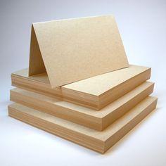Cardstock 4 1/4 x 5 1/2 Flat Sheets 40 pack Light Kraft