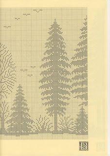 2 Szydełkomania: Lesny krajobraz