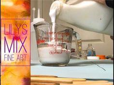 Fluid Acrylic Painting: How to Create Cells - YouTube