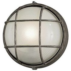 Forecast F9039565NV Oceanview Outdoor Sconce by Philips. $43.16. Finish:Silver Rust, Light Bulb:(1)60w A19 Med F Incand Complete the expression of your interior style with beautiful exterior lighting. This exterior wall sconce offers a contemporary design that adds the perfect finishing touch to your exterior. Pressed glass diffuser.