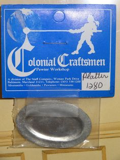 Stieff Williamsburg Miniature Colonial Pewter Oval Platter NIP 1/12 Dollhouse #Stieff X Z