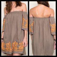 Boho Style Off The Shoulder Dress BNWT Size Large Boho Style Off The Shoulder Dress BNWT Size Large 3/4 Sleeve 100% Rayon Thanks for Looking! ⛔️No PP/Trades✅Offers Considered ✅Bundle Discounts April Spirit Dresses