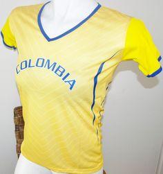 COLOMBIA WOMEN SOCCER SPORT JERSEY T-SHIRT TOP DRAKO FÚTBOL SIZE M L FOOTBALL #Drako #soccershirts #soccerjerseys #fifaworldcup #football #soccer #worldcup2014 #colombia #womensoccer
