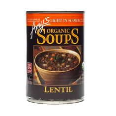 This hearty, lentil-based soup gets even more robust flavor from veggies, like sweet organic carrots, vine-ripened tomatoes and tender green beans. Amys Soup, Canning Beans, Dog Food Recipes, Cooking Recipes, Healthy Groceries, Lentil Soup, Organic Recipes, Lentils, Family Meals