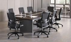 Novo highback task chair, onyx mesh, SitOnIt Seating Pop Onyx, black frame, black lumbar, onyx lumbar accent