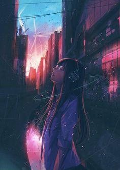 anime Delusions Of Lucidity: Photo Kawaii Anime Girl, Manga Kawaii, Cool Anime Girl, Anime Art Girl, Dark Anime, Aesthetic Art, Aesthetic Anime, Anime Negra, Yuumei Art