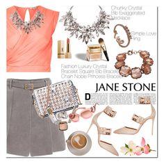 """Jane Stone Jewelry"" by oshint ❤ liked on Polyvore featuring River Island, Christian Dior, Aquazzura, Prada, jewelry and janestone"