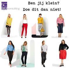 Ben je klein? Doe dit dan niet. Fashion Show, Fashion Outfits, Womens Fashion, Fashion Tips, Curvy Fashion, Urban Fashion, Winter Outfits, Casual Outfits, French Girls
