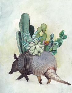 Armadillo Framed Art Print by Vivian Mineker - Vector Black - Armadillo, Animal Projects, Art Projects, Desert Tattoo, Cactus Painting, Fauna, Community Art, Spirit Animal, Animal Drawings