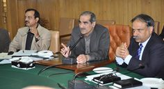 Muhammad Javed Anwar Bubak General Manager Railways with Khawaja Saad Rafique Federal minister