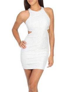 Cutout Lame Bodycon Dress | Shop Dresses at Arden B