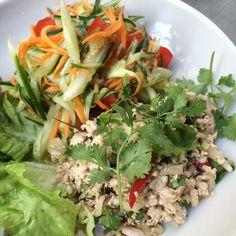 NEW ! Salade de poulet haché (Laab Kai) avec salade de concombre à la Thaï  #kapunka #kapunkaparis #food #instafood #thaifood #love #thailand #salad #eatwell #noglu #glutenfree #foodpic #foodporn #eatgood #healthy #yum