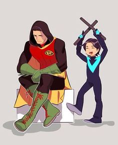 Older damian and younger dick age swap. This shows them perfectly <<<<< I agree Xx