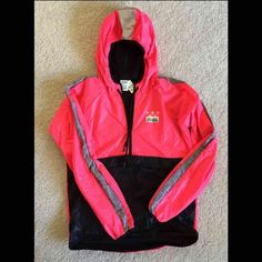 VS Pink Anorak Windbreaker Brand new VS Pink windbreaker. This is one of the newest anoraks they have out right now! PINK Victoria's Secret Jackets & Coats Puffers