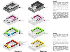 Mención Concurso Puesta en Valor y Renovación del Monumento Nacional Palacio Pereira / Tidy Arquitectos + NKZ,esquemas plantas 3 y 4